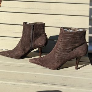 Enzo Angiolini | Brown Suede heel boot